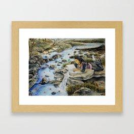 Making Water Lilies Framed Art Print