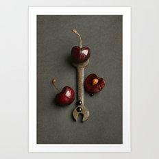 Cherries and Vintage Spanner Art Print