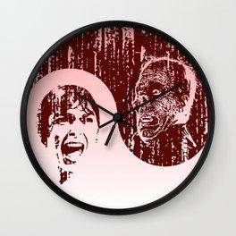 Yin Yang Horror - dark print Wall Clock
