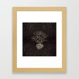 Vegvisir  and Tree of life  -Yggdrasil Framed Art Print