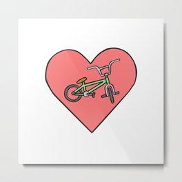 BMX love Metal Print