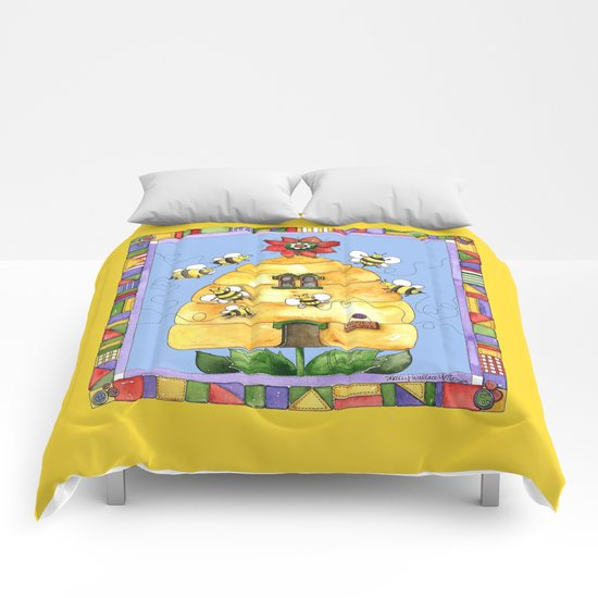 Busy Bees with Border Comforters