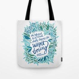 Zelda Fitzgerald – Blue on White Tote Bag