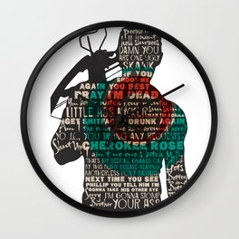 Daryl Dixon with Quotes Wall Clock