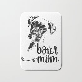 BOXER MOM DOG FACE T-SHIRT - DOG LOVERS BOXER MOM GIFT SHIRT Bath Mat