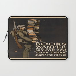 Vintage poster - Books Wanted Laptop Sleeve