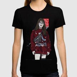 Cyberpunk Girl Vaporwave Style Popart Street Futuristic Cool Illustration T-shirt