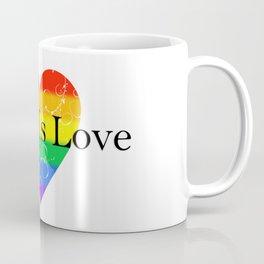Love Is Love Rainbow Pride Heart 5 Coffee Mug
