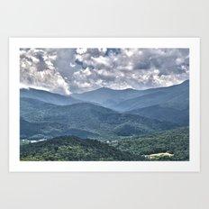 Blue, Blue Ridge Art Print