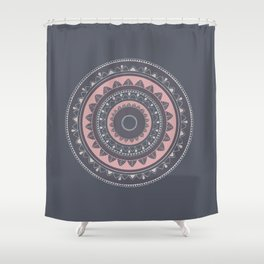 Pink mandala for self care Shower Curtain