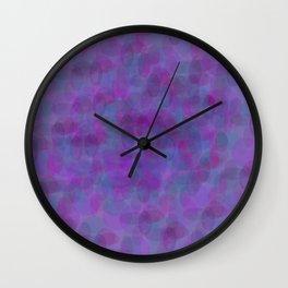 pattern bubbles on purple Wall Clock