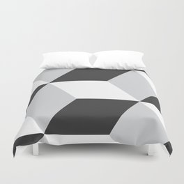 Cubism Black and White Duvet Cover