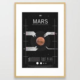 OMG SPACE: Mars 1990 - 2030 Framed Art Print