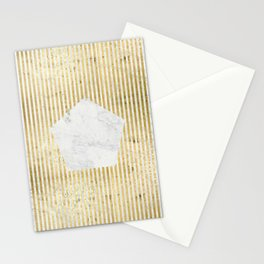 Inverse penta gold Stationery Cards