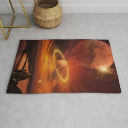 The Planets Cosmos Girl by GEN Z Rug