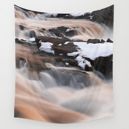 Ruby Winter Falls Wall Tapestry
