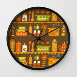 Lets Cook at Home Tonight Wall Clock