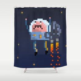 Astro Mustache Shower Curtain