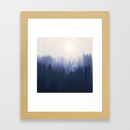 Autumn Fog | Indigo Edition Framed Art Print