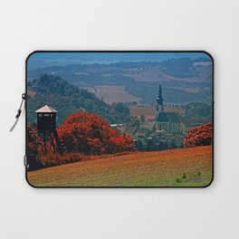 A hunting perch, a village and some vivid scenery Laptop Sleeve