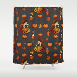Pumpkin Spice Shower Curtain