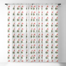 ORGANIC INVENTIONS SERIES: Vintage Floral Phonograph Sheer Curtain