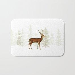 Wandering deer  Bath Mat