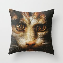 Cat in the art - Giuio Romano – the lady with the cat Throw Pillow