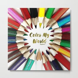 Color My World Teen Collection by Bagaceous Metal Print