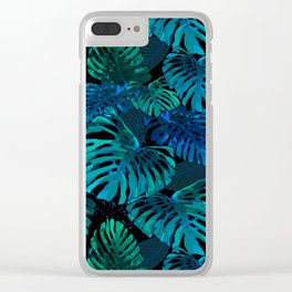 Monstera Jungle Hula Moon Clear iPhone Case