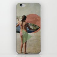surfer iPhone & iPod Skins featuring Surfer  by Mary Kilbreath