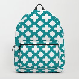 Stars & Crosses Pattern: Teal Backpack