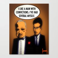 the godfather Canvas Prints featuring Godfather by Chris Fenner