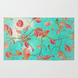 Poppies and Vines Rug