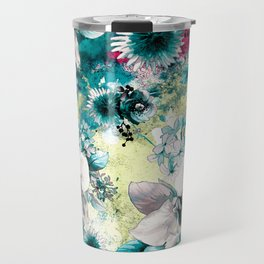 Blue Garden Travel Mug