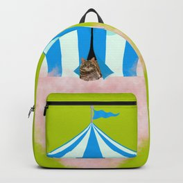 Cotton Candy Lime Green Cat Backpack