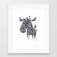elk Framed Art Prints featuring Elk by Ingunn Dybendal