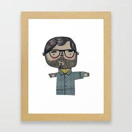 Nerdy Beardy Guy Framed Art Print