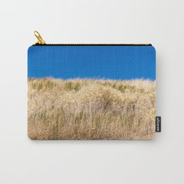 Dry grass meadow and blue sky Carry-All Pouch