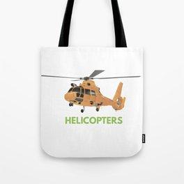 Orange European Helicopter Tote Bag