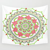 holiday Wall Tapestries featuring Holiday by Katie Duker