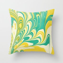Painting in water Throw Pillow
