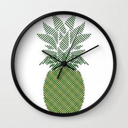 Geometric pineapple art Wall Clock