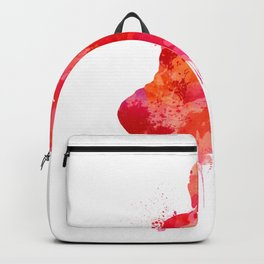 Red Buddha Watercolor art Backpack