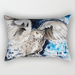 "Owl - Animal - ""I own the night..."" by LiliFlore Rectangular Pillow"