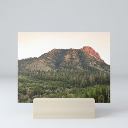 Saddle Mountain Sunset Oregon Clatsop County Northwest Forest Landscape Mini Art Print