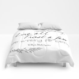 Shakespeare Quote Comforters