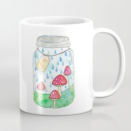 Mushrooms in Mason Jar Coffee Mug