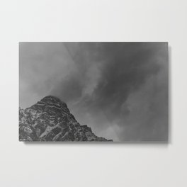 Stormy, Winter Mountain Metal Print
