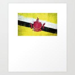 Brunei Flag design | Bruneian design Art Print